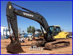 2010 Volvo EC290CL Hydraulic Excavator A/C Cab 52 Bucket D7E Turbo Aux bidadoo