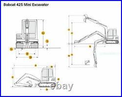 2011 Bobcat 425 ZTS Mini Excavator, ONE OWNER, kubota, 1718 hrs