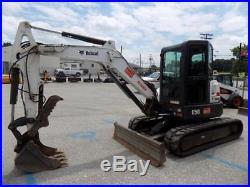 2011 Bobcat E50 Mini Excavator, Cab, AC/Heat, 2 Speed, X-Change Coupler, 1413 Hr
