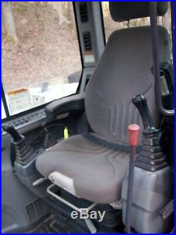 2011 Bobcat E80 Mini Excavator Aux Hydraulic Enclosed Cab Heat AC Rubber Tracks
