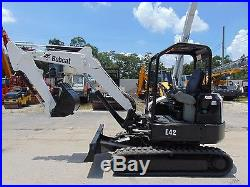 2011 Bobcat E-42 Mini Excavator Blade Plumbed Stick Low Hours 2 Speed