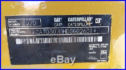 2011 Caterpillar 307D Midi Hydraulic Excavator Diesel Tracked Hoe Machine Plumb