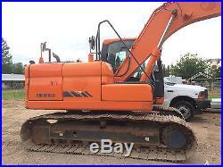 2011 Doosan DX140 LC Excavator Hydraulic Diesel Tracked Hoe EROPS Metal Track