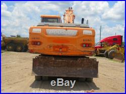 2011 Doosan DX210W Wheeled Excavator Mobile Cab A/C Dozer Blade 42 BKT bidadoo