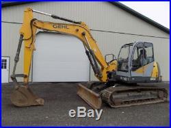 2011 Gehl 1202 Excavator, Cab, AC/Heat, 2 Spd, 99 HP John Deere Diesel, 2165 Hrs