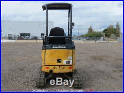 2011 John Deere 17D Mini Excavator Track Backhoe Diesel Aux Hyd Dozer Blade