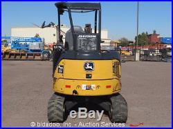 2011 John Deere 27D Hydraulic Mini Excavator Aux Hyd Diesel Backfill Blade Q/C