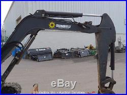 2011 John Deere 35D Mini Excavator Tractor Cab A/C Aux Hyd Dozer Blade bidadoo