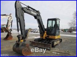 2011 John Deere 60D Hydraulic Excavator, Full Cab, Air, Heat, 1882 Hours