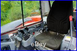 2011 KUBOTA KX080, with Cab, A/C, Steel Tracks with Rubber Pads, & Blade