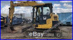 2011 Komatsu PC 78-US 8 Compact Crawler Excavator with Blade