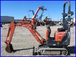 2011 Kubota K008-3 Micro Excavator Rubber Extendable Tracks Aux Hyd Blade Repair