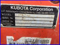 2011 Kubota KX057-4 Hydraulic Midi Excavator with Cab Thumb Angle Blade 3200 Hours