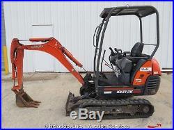 2011 Kubota KX41-3V Mini Excavator Backhoe Dozer Blade Aux Track Hoe bidadoo