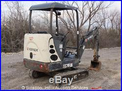 2011 Terex TC16 Mini Excavator Aux Hyd Dozer Blade Extendable Tracks Hoe bidadoo