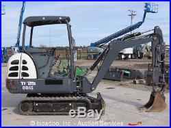 2011 Terex TC29 Mini Excavator Track Backhoe Dozer Blade Aux Hyd Three Buckets