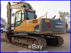 2011 Volvo EC160CL Excavator AC Cab 42 Bucket Aux Hydraulics Track Hoe bidadoo