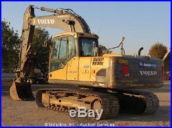 2011 Volvo EC160CL Hydraulic Excavator A/C Cab 36 Bucket Thumb Rear Cam