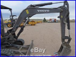 2011 Volvo EC35C Mini Excavator Rubber Tracks AuX Hyd Blade bidadoo