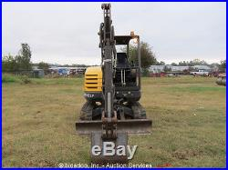 2011 Volvo EC35C Mini Excavator Rubber Tracks Aux Hydraulics Dozer Blade bidadoo
