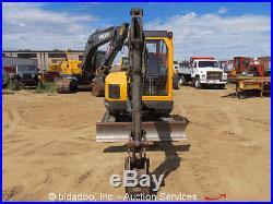 2011 Volvo ECR38 Mini Excavator Backhoe Blade Cab Rubber Tracks bidadoo