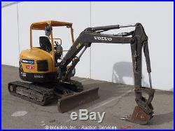 2011 Volvo ECR38 Mini Excavator Rubber Tracks Backhoe AUX Hydraulics bidadoo