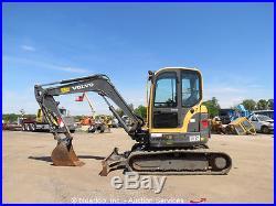 2011 Volvo ECR58 Mini Excavator Rubber Tracks Backhoe Cab Heat A/C Swing Boom