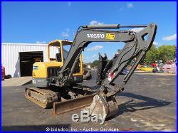 2011 Volvo ECR58 Mini Excavator Rubber Tracks Backhoe Hydraulic Thumb bidadoo
