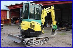 2011 Yanmar Vio 25 Mini Excavator / Cab- Heat / Hyd Thumb / Hydraulic Coupler