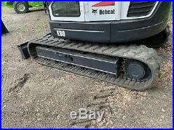 2012 BOBCAT E80 EXCAVATOR A/C Enclosed Cab Long Arm Machine! Quick Coupler Radio