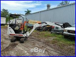 2012 Bobcat 324 Backyard Mini Excavator Kubota Diesel Retractable Tracks