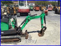 2012 Bobcat 418 Hydraulic Mini Excavator with Kubota Diesel Engine Only 1500 Hours