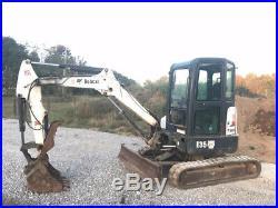 2012 Bobcat E35 Hydraulic Mini Excavator with Kubota Diesel, Cab & Thumb