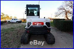 2012 Bobcat E60 Excavator Only 301hrs, Enclosed Cab, A/C Heat, & aux hydraulics