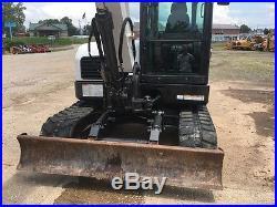 2012 Bobcat E80 Rubber Track Excavator Withcab A/C Heat Bob Cat