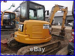 2012 Cat 305.5E Excavator, Aux Hydraulics, Cab, Rubber Tracks