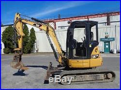 2012 Caterpillar 304E Mini Excavator Loader Diesel Dozer Blade Cab
