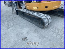 2012 Caterpillar 305E CR Hydraulic Mini Excavator with Cab 3rd Valve Blade Coupler