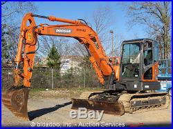 2012 Doosan DX80R Hydraulic Excavator Bucket Dozer Track AC Cab Aux bidadoo