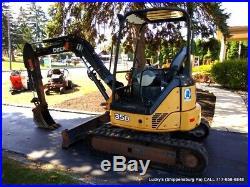 2012 JOHN DEERE 35D Excavator 2 SPEED 7672LB JUST SERVICED 10' DIG 12 Bucket