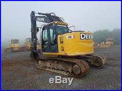 2012 John Deere 135D Excavator Tracked Hoe Diesel Tractor Hydraulic Thumb AC ZTS