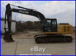 2012 John Deere 200D LC Hydraulic Excavator Aux Hyd A/C Cab Q/C bidadoo
