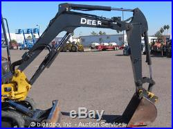 2012 John Deere 27D Hydraulic Mini Excavator Aux Hyd Diesel Backfill Blade Q/C