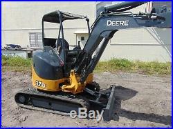2012 John Deere 27d Mini Excavator Brand New Tracks Today Yanmar Diesel