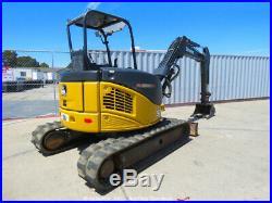 2012 John Deere 50D Mini Excavator Rubber Tracks Backhoe Aux Hyd Q/C bidadoo