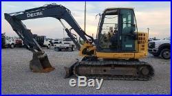 2012 John Deere 85D Mini Midi Excavator Track Hoe Cab Heat A/C