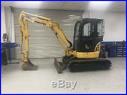 2012 Komatsu PC35MR-3 Mini Hydraulic Excavator Rubber Tracks Heat Aux Hyd Cab