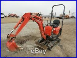 2012 Kubota K008-3 Mini Excavator Blade Rubber Tracks 1655 hours small