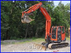 2012 Kubota KX080-3 Hydraulic Excavator Cab Heat A/C Thumb 17.7 Rubber Tracks