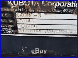 2012 Kubota KX080-3 with Angle Blade